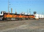 BNSF 7386 Departing Cherokee Yard.