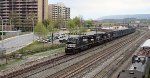NS 9435 with municipal waste train 65J.