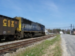 CSXT 700 thunders past the NCVA interchange and the small town