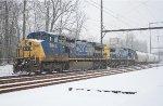 CSX C40-9W #9043 on Q418-08