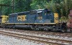 CSX SD40-3 #4016 on W086