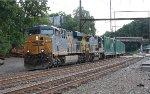 CSX ES44AC #813 on Q702-22