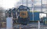 CSX GP40-2 #6247 in Woodbourne Yard
