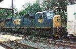 CSX SD70MAC #4575 on Q740-12