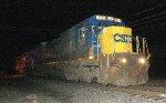 CSX C40-8 #7613 on Q417-01