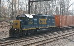 CSX GP40-2 #6012 on Q706-17