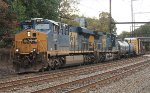 CSX ES44AC #887 on Q410-18