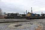 NS C40-9W #9729 and CSX SW1001 #1128