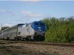 Amtrak 22 in Villa Grove, IL