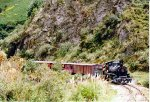 Andes class locomotive with a train in a scenic area