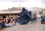 Town folks meet the train