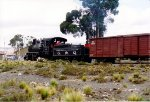 This steam engine is called an Andes class locomotive