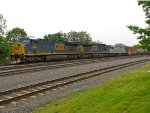 CSX 738 and 808; AMTK 525