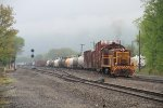 NSHR 774 switching at Lock Haven Yard in the clouds