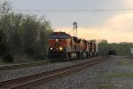 BNSF 1033 heads eb at sunset with a hot z train.