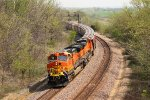 BNSF 4722 swings the s curves at ethel mo.