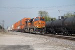 BNSF 7266 heads west at Marceline mo.