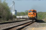 BNSF 6209 heads eb with a plastic pellet train.