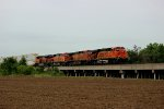 BNSF 5830 rips a hotshot z nbywsp9 for Chicago.