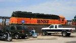 Smashed up BNSF 1691