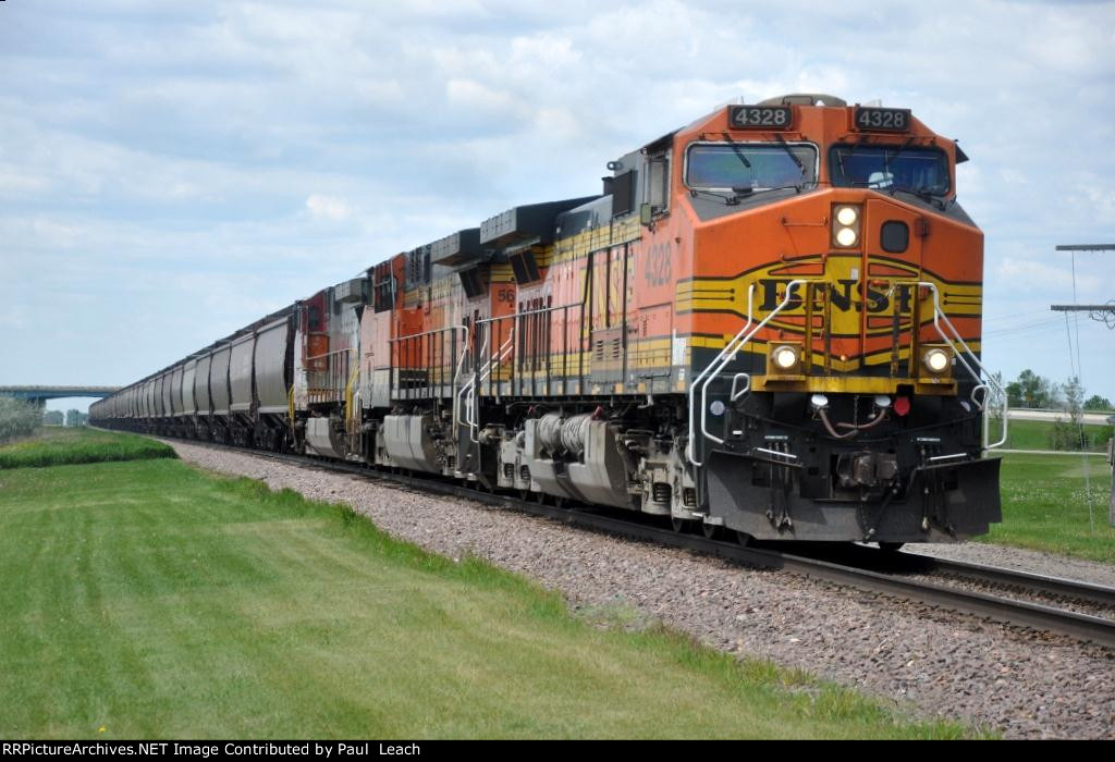 Eastbound grain train