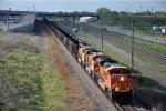Westbound coal empties