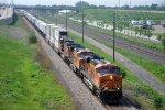 Intermodal runs westbound