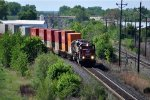 Westbound intermodal waits for clearance