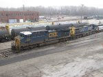CSX 575 & 130 wait to depart with Q645