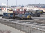 BRC 140 heads into the bowl as a set of CSX power sits