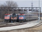 Three variations of Metra power wait out the weekend