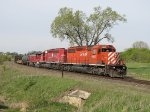CP 6007 leads 272 eastward across rural northern Illinois