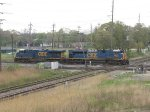 CSX 5354 & 4835 rattle over the diamonds westbound as light power