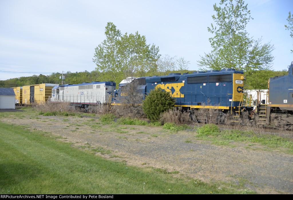 Amtrak 525 in CSX consist