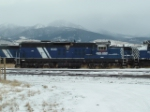 MRL 600 SD9 sitting amongst other MRL locomotives out of service
