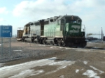 BNSF 2884 GP39M sitting in the yard
