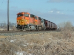 BNSF 7708 surrounded by cat tails
