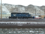 MRL 225 SD40 just outside the MRL shop