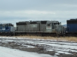 MRL 8940 SD45 riding out a winter along with other MRL units
