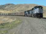 MRL 4313 SD70ACe heading for Bozeman Pass