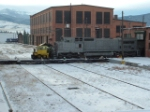 BNSF 871 C40-8W with some fresh primer and ready for transfer