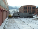 BNSF 871 C40-8W leaving shop, but off to another