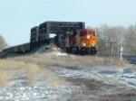 "BNSF 5837 ""Evolution Series"" crossing Yellowstone River"