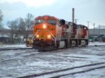 BNSF 7630 ES44DC backing into the yard