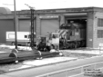 FURX 8111 (SD40-2) being pulled from shop onto transfer table