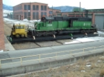 FURX 8111 SD40-2 being moved on the transfer table