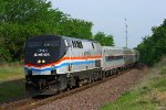 Eastbound Amtrak Missouri River Runner Train #314 - AMTK 145 Phase III 40th Anniversary Locomotive