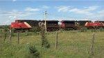 CN 2260 leading a 5 loco 130+ car train westward.