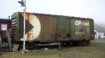 CP 401710 the only green CP boxcar I saw on this trip.