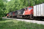 CN 5679 and CN 5621 on CSX train K497.